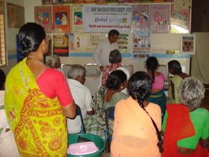 K.Sudhakar Reddy creating awareness to LF Patients