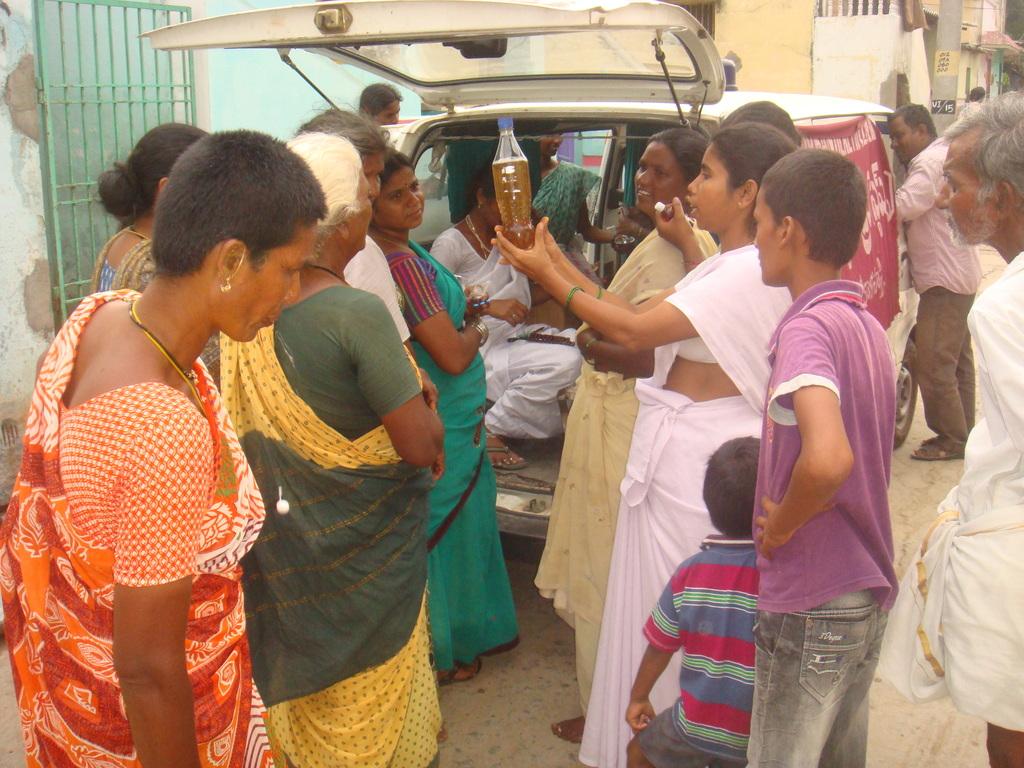 Health awareness camp in slum