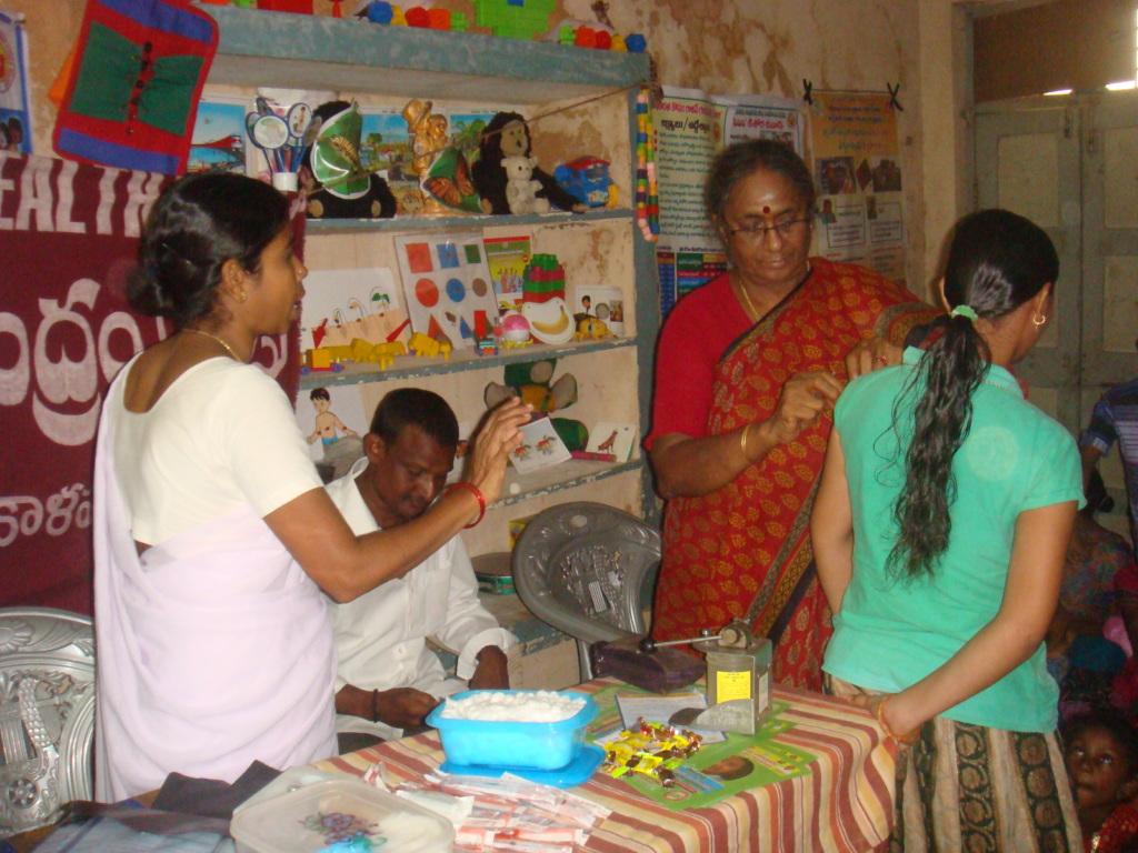 Immunization camp for children in slum