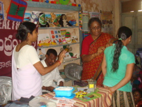 Immunization camp for children in slum