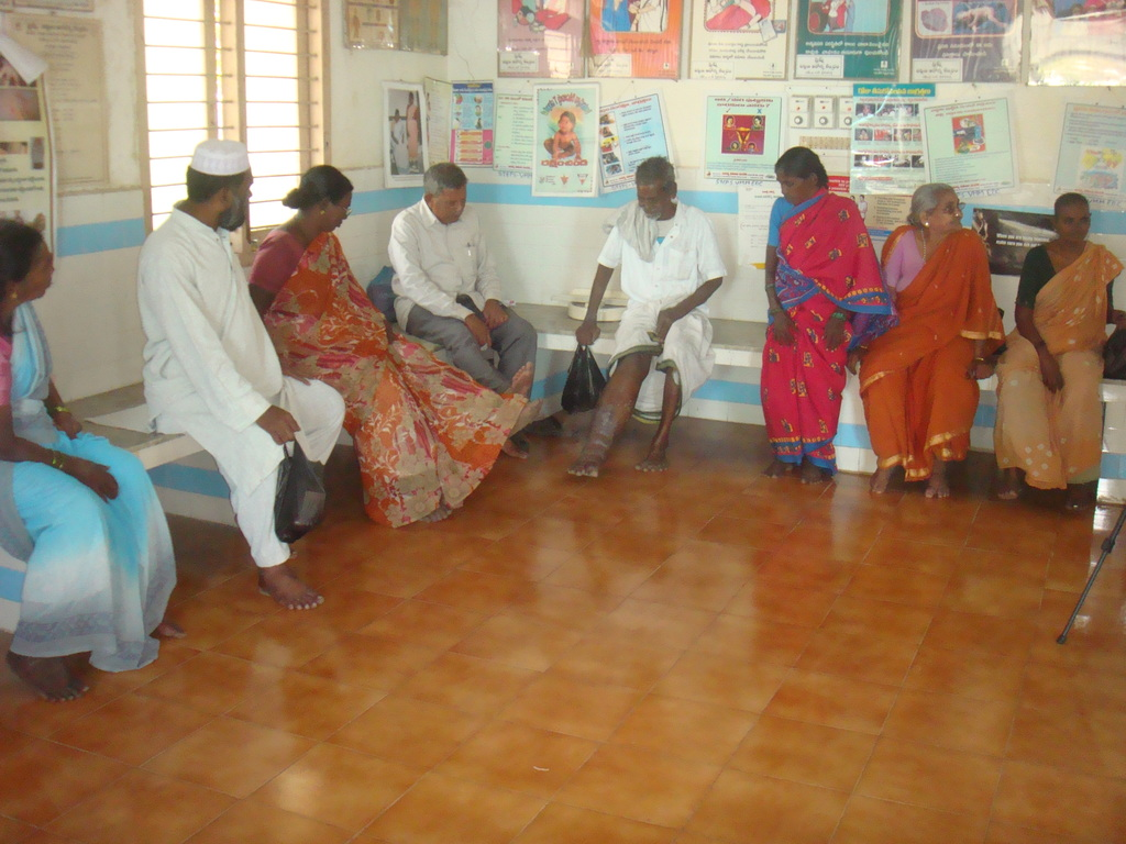 Filariasis patients doing Exercises