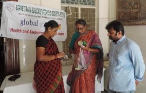 Medicines distribution in health camp