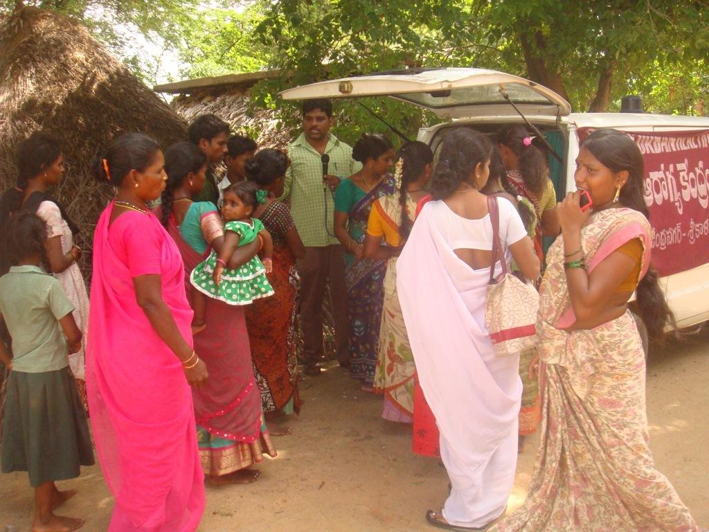 Dengue fever awareness camp in slum