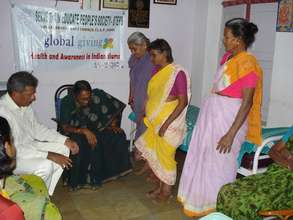 Filariasis Patients doing exercise
