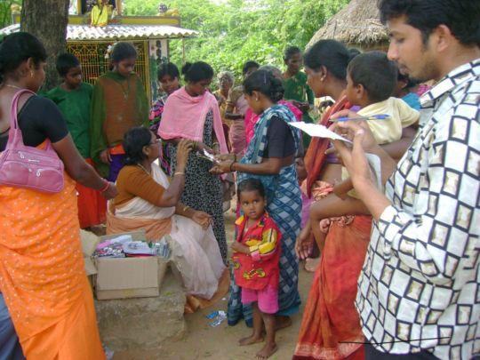 Health camp in slum
