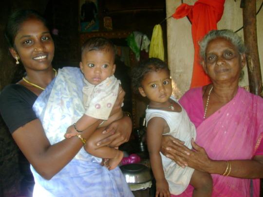 Prasanna with Children& Mother in Law