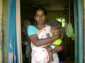 Mrs.Munilakshmi with her Child