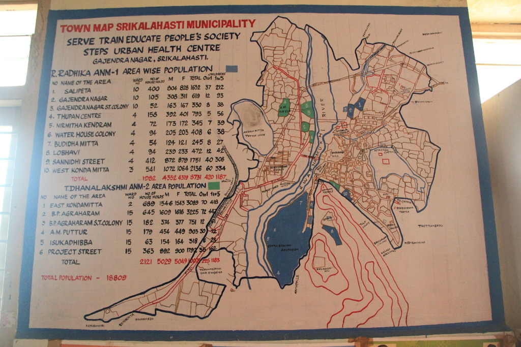 A map of Kalahasthi and the impact in the city
