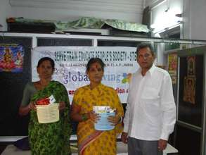 K S Reddy giving Medicines to LF patients
