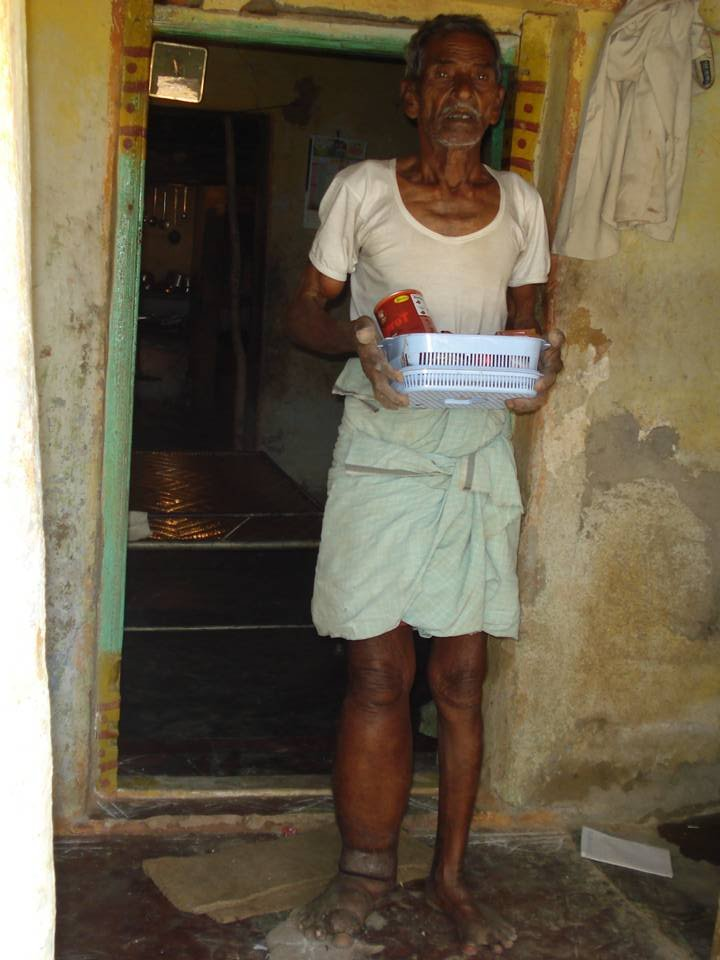 Krishnaiah LF patient with medicines - house visit