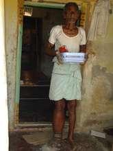 Krishnaiah LF patient with medicines - house visit