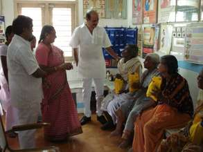 Project Leader & Dr.Naidu with Filariasis Patients