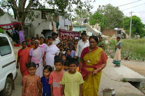 Health Awareness Rally in slum