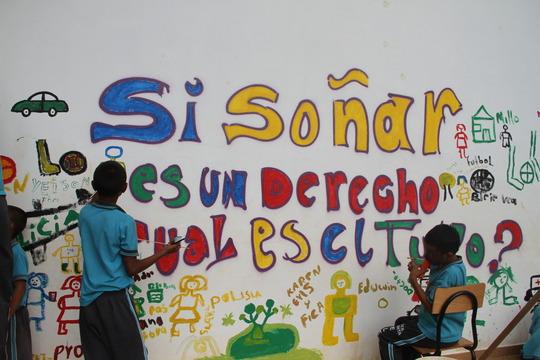 Train 4.000 colombian children in peace building.