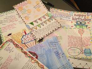 Birthday cards for incarcerated Free Minds members