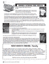 The Books Across the Miles page in our newsletter
