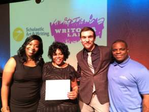 DA's mother shows off her son's Scholastic Award