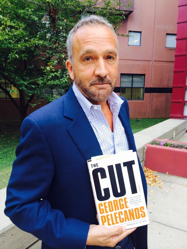 Author George Pelecanos visiting the Book Club