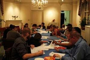 Volunteers responding to poetry at Write Night