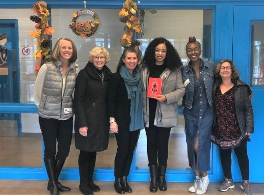 Author Tiffany D. Jackson (center) visits DC Jail