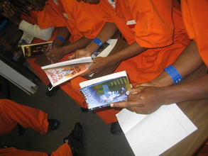 Reading during Book Club at the DC Jail