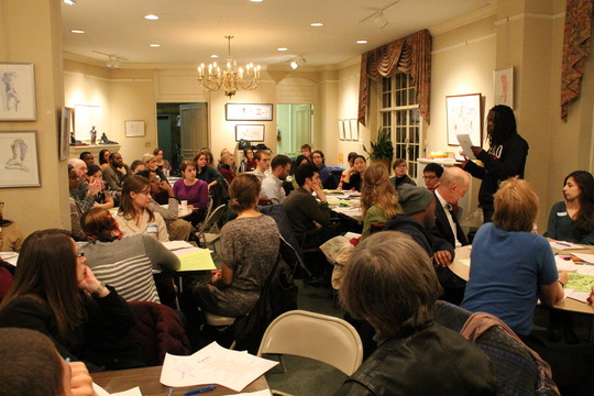 Community members respond to poems at Write Night