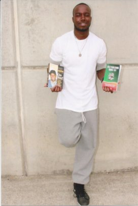 Wayne (in federal prison) with his favorite books