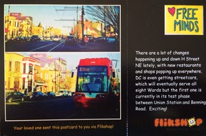 We send postcards to our members with Flikshop!