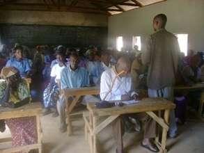 Daniel Mwenda Addressing Our Mauni Group