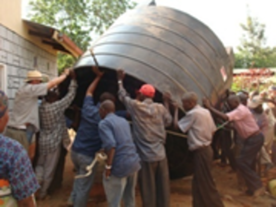 It Takes A Village To Install A Cistern