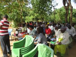 farmers being trained