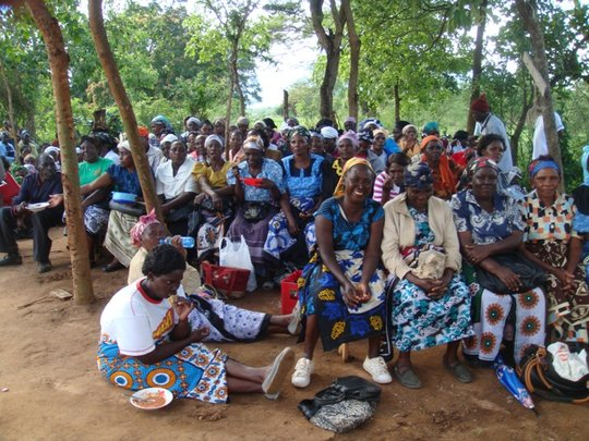 Farmers enjoying the annual DNRC party