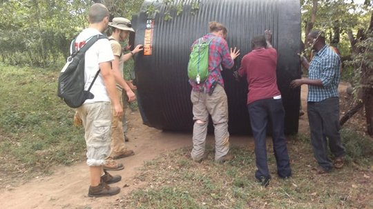 UWSP Students and Community Install Water Tanks
