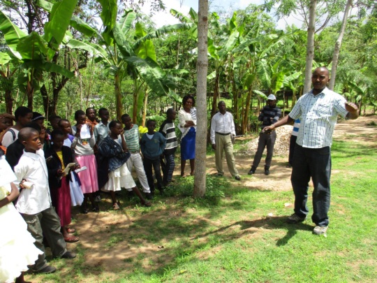 nicholas training pupils