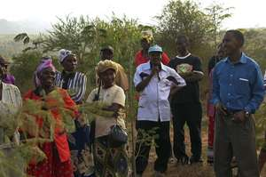 Training on the Demonstration Farm