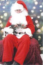 Daisy with Santa Clause