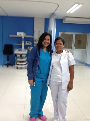 Dr. Vargas (left) and nurse, Ana Rosa