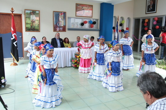 A local children's dance troupe performs