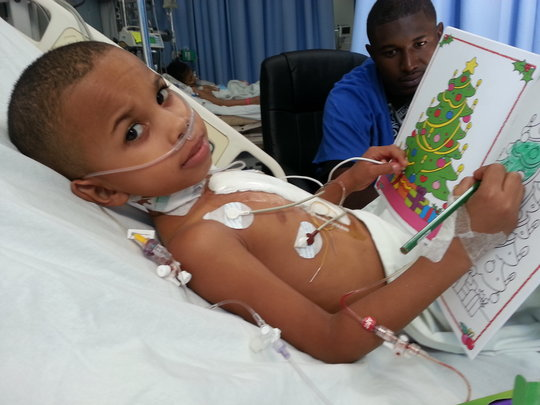 Akim After Surgery, Thinking of the Holidays