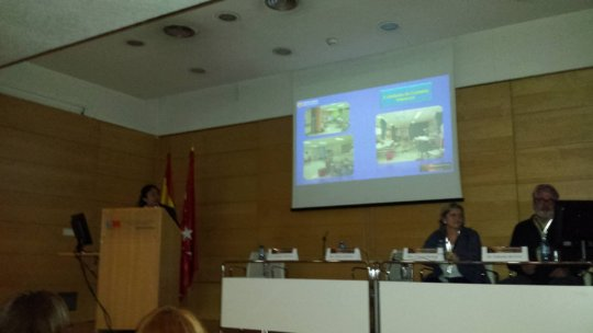 Ana Rosa telling the story in Madrid