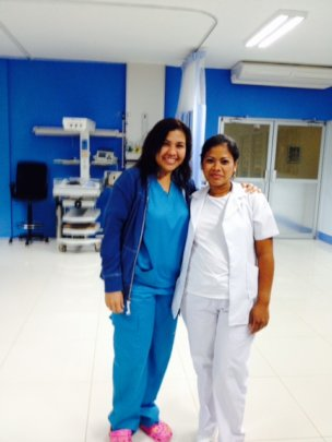 Two members of the medical team in Managua