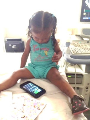 Song on Dr's phone calms Britany's fears