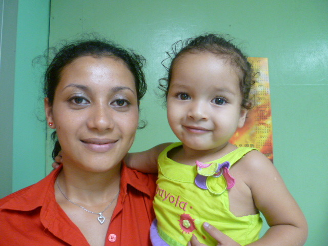 Little Camila (2) with her mother