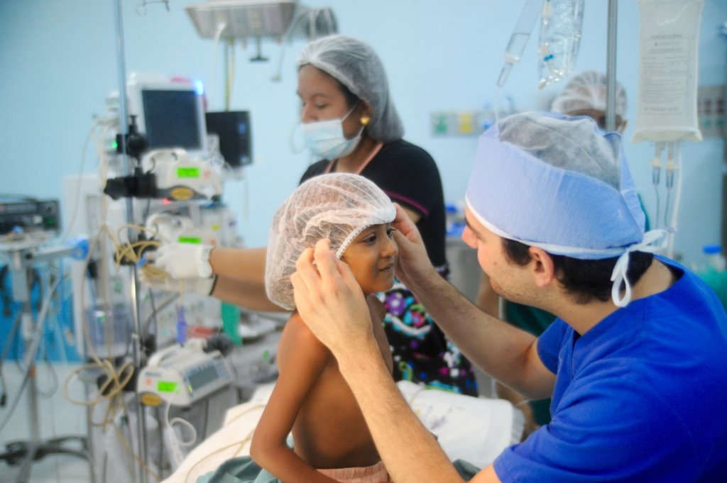 Dayana is prepared for surgery
