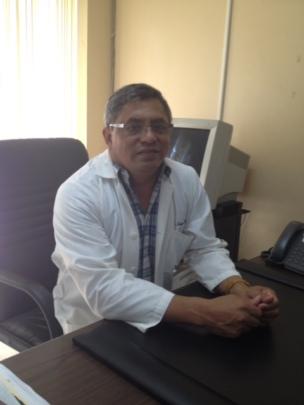 Heart Center administrator in office