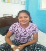 Heydi, 10, from Chinandega is better after surgery
