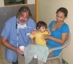 SoH Pres.da Cruz, with young patient in Nicaragua