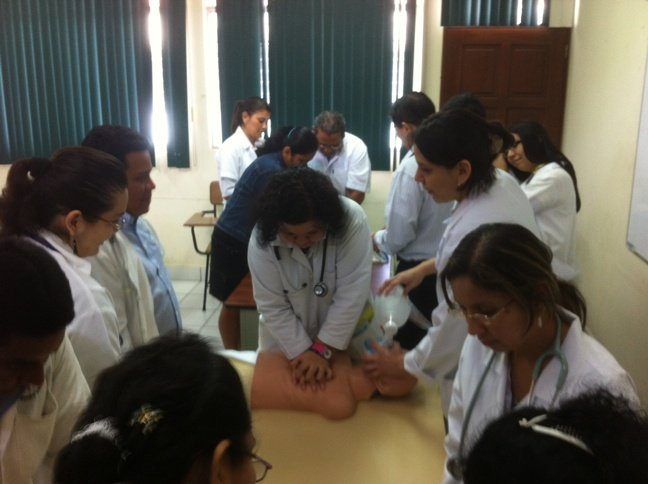 Local Doctors Practice Basic Life Support