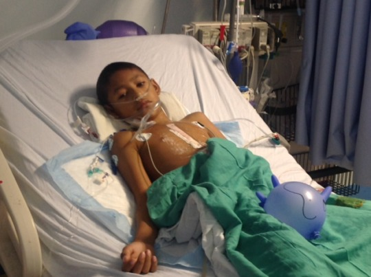 Child Recuperating After Surgery
