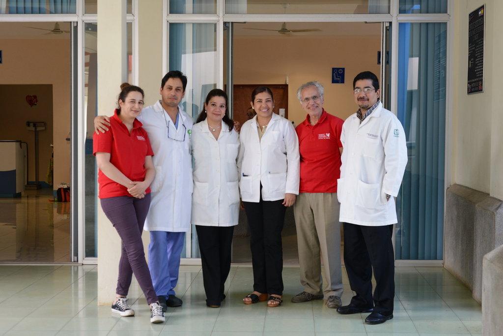 Mecenat team with local hospital officials